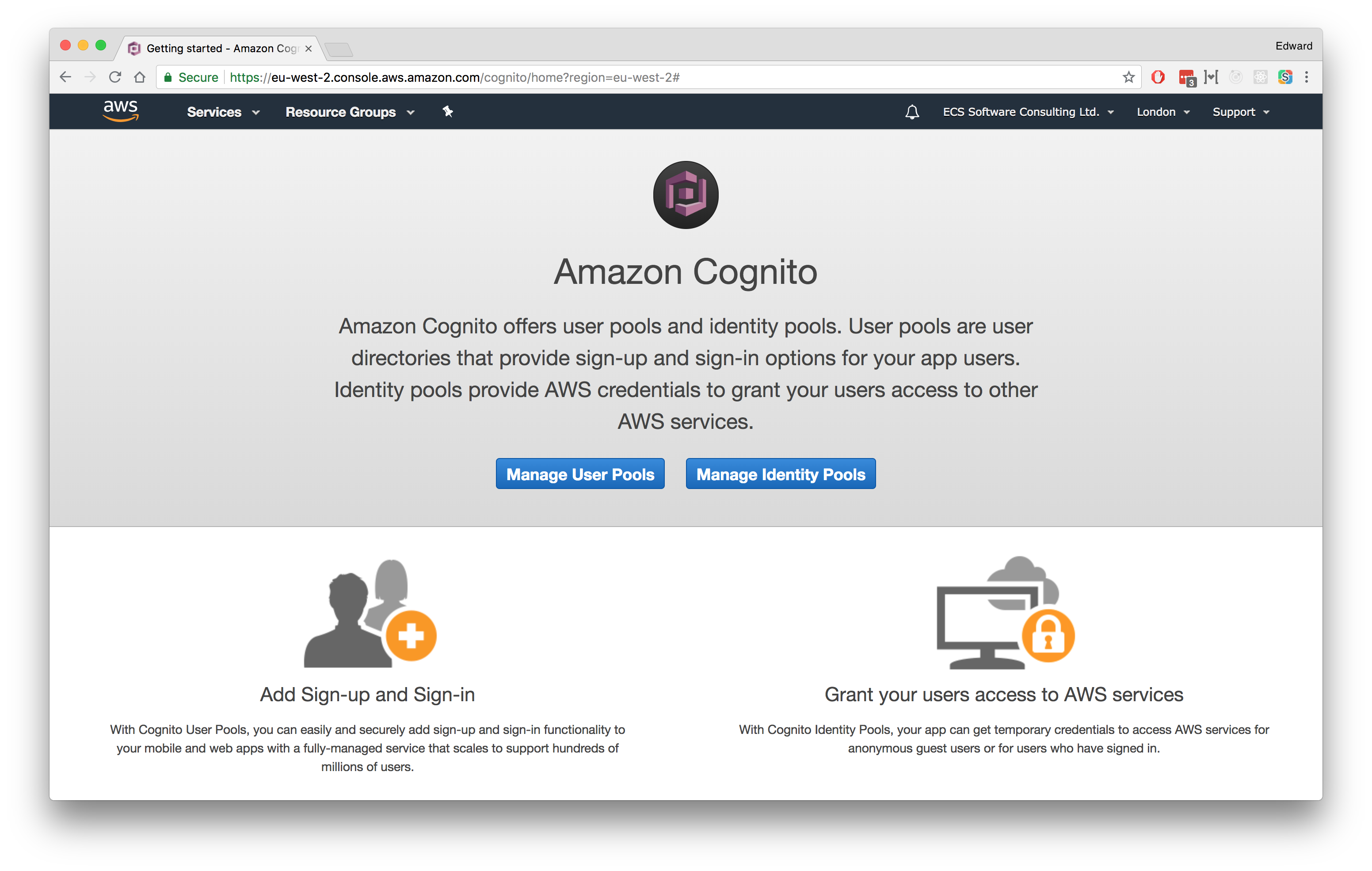 Getting Started With AWS Cognito | Edward Coleridge Smith